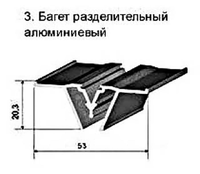Багет разделительный 2