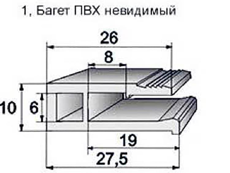 Багет для натяжного потолка Decke 3